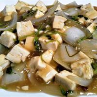 🍴 豆苗と豆腐のピリ辛餡かけヾ(^∇^)