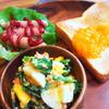 菜花と鮭フレークde春色たまごサラダ