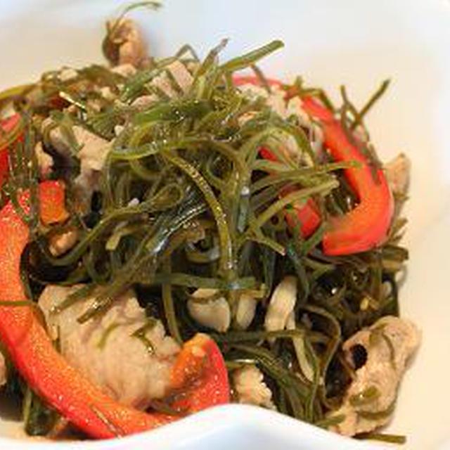 すき昆布と豚肉の炒め煮