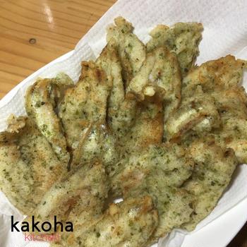チカの天ぷら(アオサ風味)
