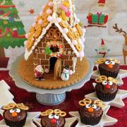 * クリスマス ☆ トナカイのカップケーキ♪