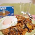 簡単炒めるだけ♪10分で!万人受けの挽肉と茄子で簡単ボロネーゼ丼♪