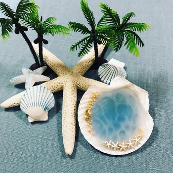 貝殻の中の海♪レジンクラフト
