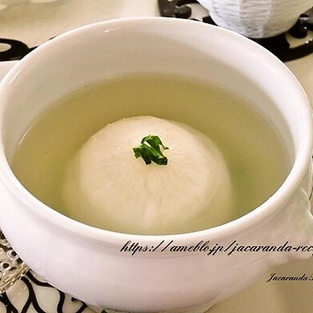 調味料は1つ☆3ステップで完成♪【レンジで簡単☆かぶの丸ごと中華スープ】