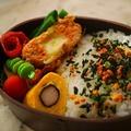サーモンのポテト衣コロッケ弁当&秋鮭弁当 by とまとママさん