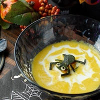蜘蛛の巣スープの作り方です【ハロウィンレシピ】