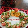 【X'mas サラダ】 クリスマスリース照り焼きチキンサラダ