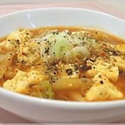 塩豆腐のピリ辛キムチスープ