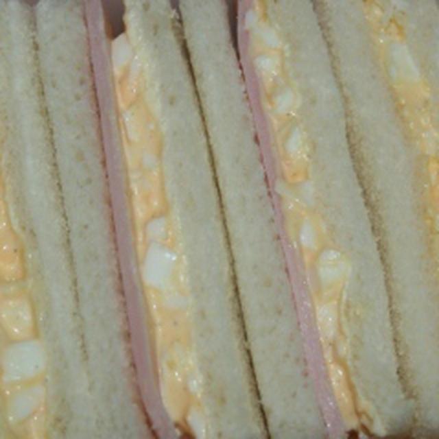 12月2日  夕方飯 ハム玉サンド