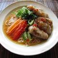 揚げ春巻きのせ麺