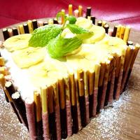 バナナジャムサンド!水切りヨーグルトのデコレーションケーキ