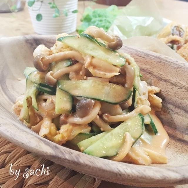 白菜としめじのピリ辛マヨポン酢和え