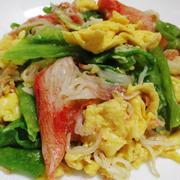 カ二カマとレタスの卵炒め<優しい味わいの炒め物>