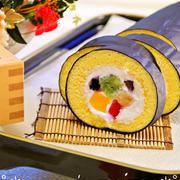 生地材料3つの簡単お菓子♪節分に恵方巻きロールケーキ