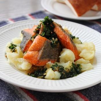 「生鮭と新じゃがいものパセリバター」簡単美味しいお魚レシピ