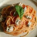 野郎飯流・ブルーチーズをあしらったスパゲッティポモドーロ