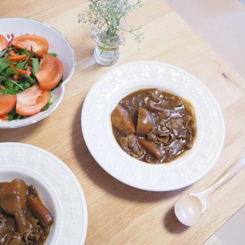 【ワンプロキッチン】でごろっと野菜の簡単カレー&ビーフシチュー
