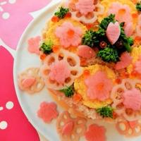 桜満開のケーキ寿司