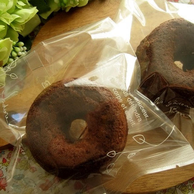 プレゼントにチョコ焼きドーナツ