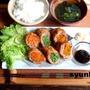 カフェ風野菜の肉巻き揚げ