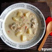 【簡単!!カフェごはん】フライパンでクリームシチューとシチューライス