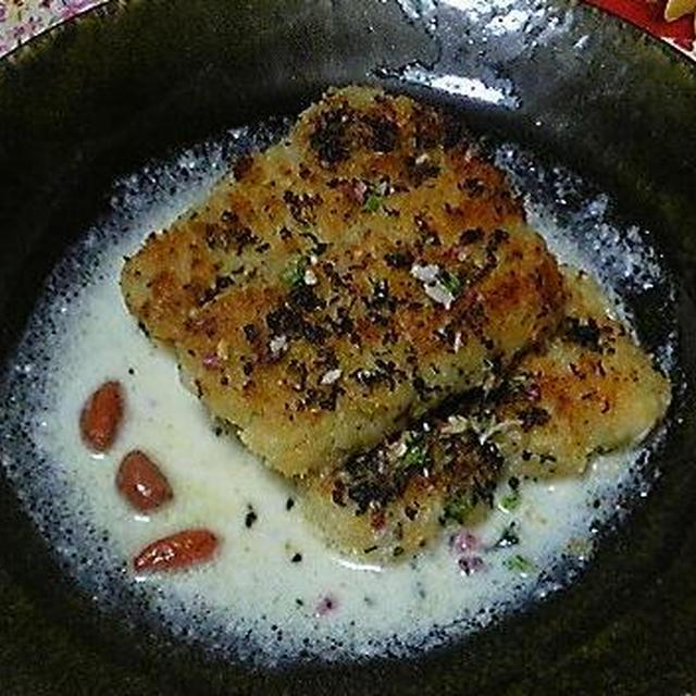 春の香りコース「白魚の香草パネグリエ」クリームソース