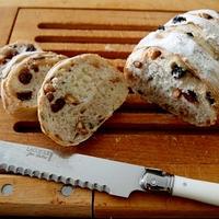 練習・・ドライベリーとチェリーと木の実のパンにゃ♪