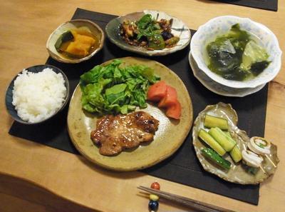 ちっちゃい豚肉の味噌漬けの晩ご飯 と カブトムシ誕生♪