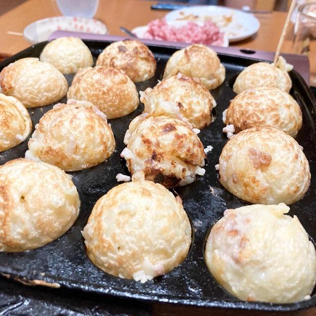 【エコな油の引き方】鉄板たこ焼きですが、ひき肉チーズが好きです!