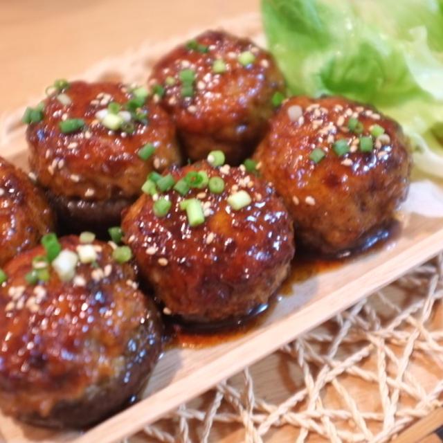 話題入り感謝♡ 『椎茸の肉詰め☆照り焼き味』