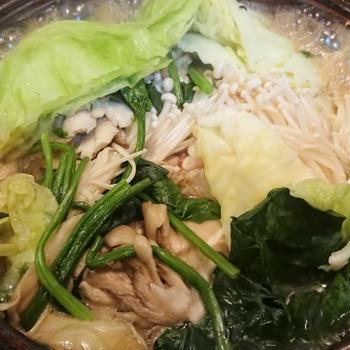 野郎飯流・きのこと野菜と鶏の、ほぼ無水鍋