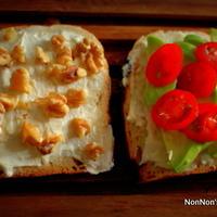アボガドとくるみのクリーミーサンドイッチ