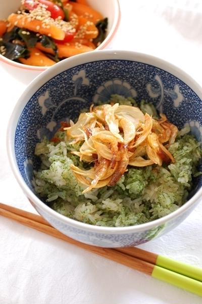 桜海老の青海苔ご飯丼