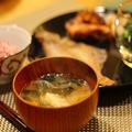 カレイの干物 豚肉の八幡巻き