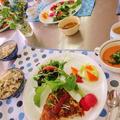 料理教室のレシピ☆具だくさん♪メレンゲでスパニッシュオムレツ