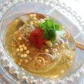 夏味*焼き梅と蓴菜の冷製おにぎり茶漬け