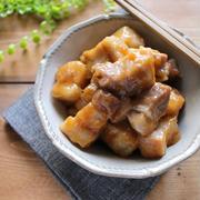 レンジで10分!コロコロ可愛い味噌風味の豚の角煮