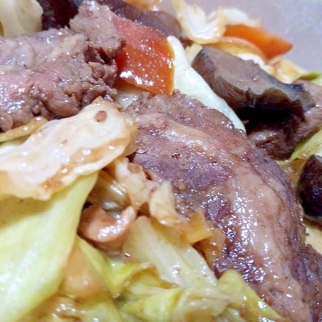 焼肉の材料で野菜炒め【レシピ】
