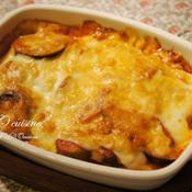 ナスとポテトのトマトチーズグラタン