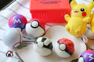 PokemonGo!モンスターボールおにぎり弁当