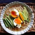 きゅうりと温泉卵で激辛もりおか温麺