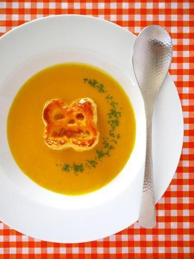 ハロウィンおばけのかぼちゃポタージュ♪簡単ハロウィンレシピ