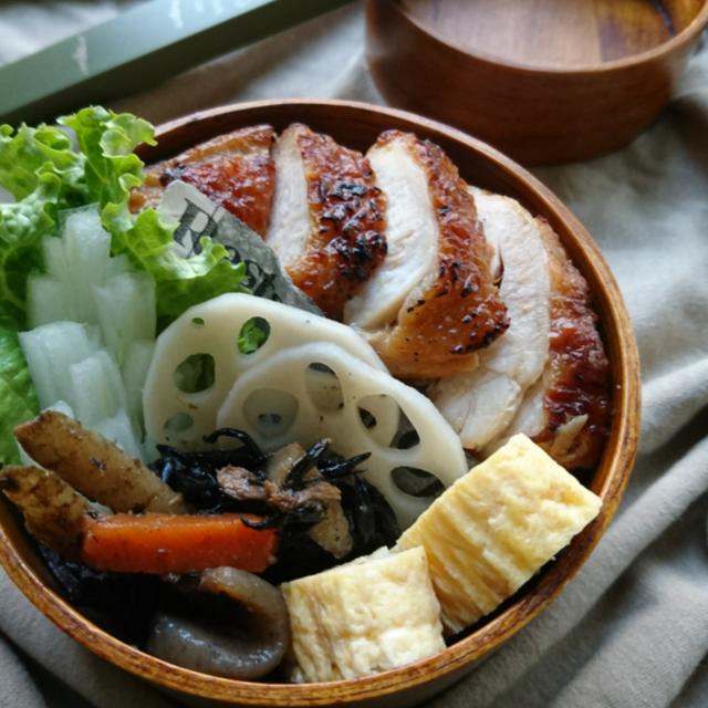 鶏もも肉の塩麹マヨワイン漬けのてりやき(作り置き)