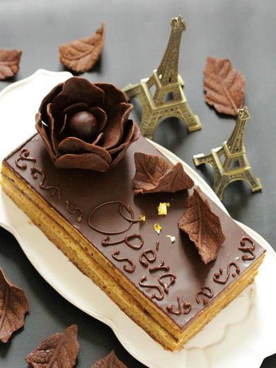 * バレンタイン ♡ オペラ風 チョコレートケーキ♪