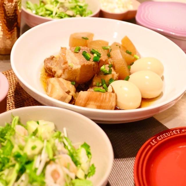 久しぶりの豚の角煮〜お手おかわりハイタッチ