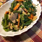 空芯菜と豚バラの香り炒め