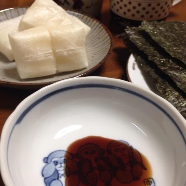 焼き餅海苔醤油☆朝ご飯♪