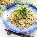 残り野菜で作る‼︎タイの味★パッタイ風焼きそば♬