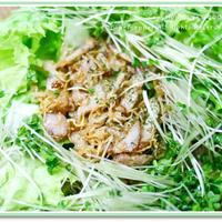 信州レタスの巣篭もりサラダ&冷やし中華。