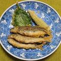 小アユの天ぷら、帆立貝柱の刺身